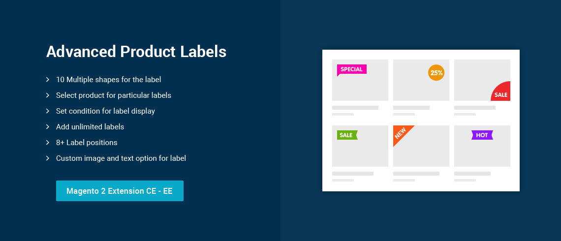 Advanced Product Labels - Extension For Magento 2