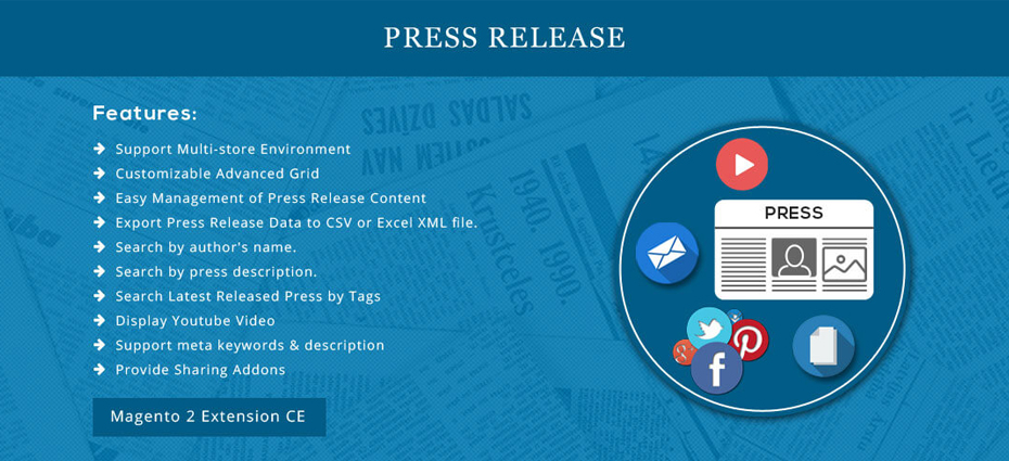 Press Release - Magento 2 Extension
